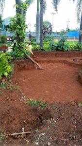 Montar um lago artificial no jardim de casa