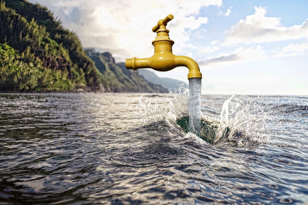 água ideal para o lago