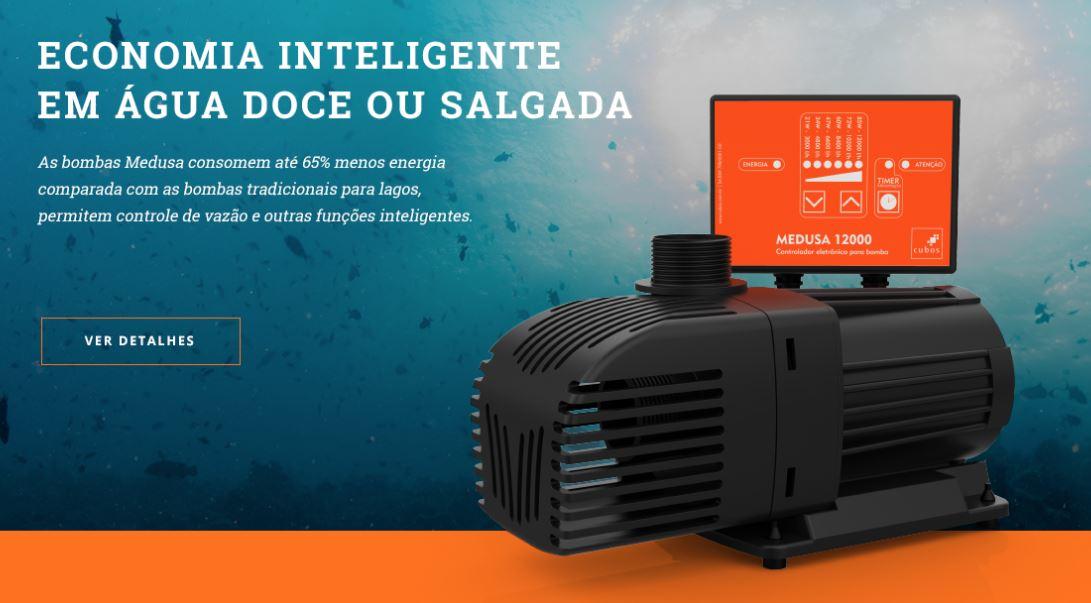 bomba eletrônica para aquário e lago